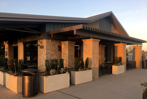 Tesoro Welcome Center Trellis Done - Madera