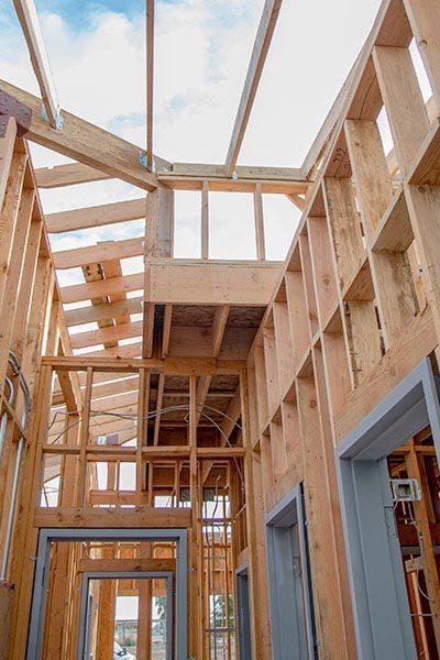 Interior of Building Showing Framework